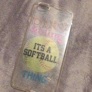 Softball quote case
